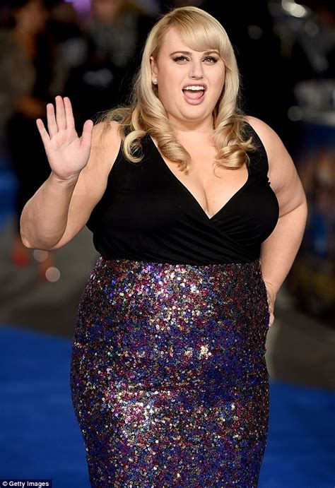 Rebel Wilson in revealing dress from ASOS at Night At The ...