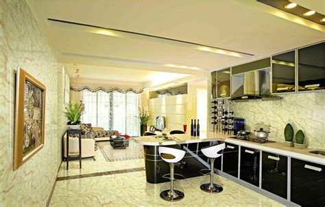 interior designs for kitchen and living room open kitchen living room design 9627