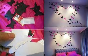 Diy butterflies wall art wonderfuldiy