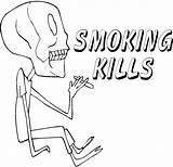 Coloring Drug Drugs Pages Smoking Anti Kills Drawing Ribbon Week Say Drawings Dope Print Misc Template Skeleton Alcohol Sketch Return sketch template