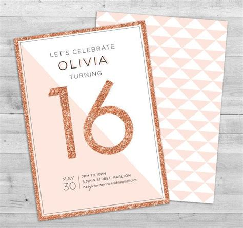 16th Birthday Invitations Templates by Sweet 16 Invitation Birthday Invitations 16th