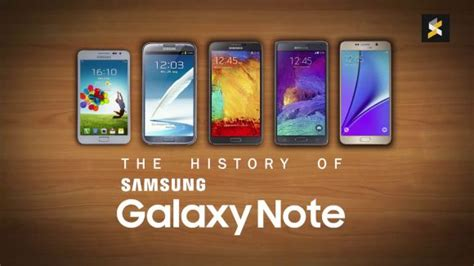 samsung galaxy note history soyacincau