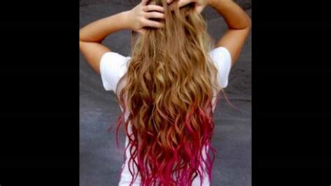 Red Hair Pink Tips