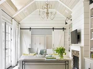 Interior Barn Doors - Cottage - living room - Tillman Long