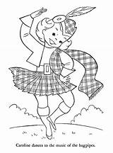 Coloring Pages Scotland Dance Colouring Children Outline Norway Flag Ireland Around Adult Embroidery Crafts Burns Scottish Highland Denmark Spain Thinking sketch template