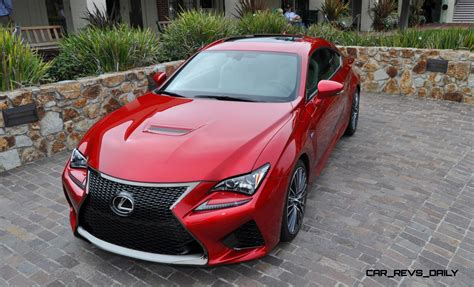 lexus cars red 2015 lexus rc f in red at pebble beach 82