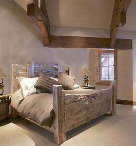 25 best ideas about barn wood headboard on pinterest With barn style bed frame