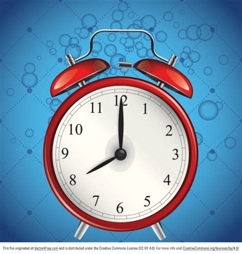 Alarme Bleu De L'horloge Vecteur Graphique Télécharger