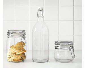 Bouteille En Verre Ikea : 20 de r duction sur la s rie de bocaux et bouteilles en verre korken ikea ~ Teatrodelosmanantiales.com Idées de Décoration
