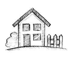 Haus Gezeichnet Vorne by Gezeichnete Haus Stock Vektorgrafiken Clipart Me