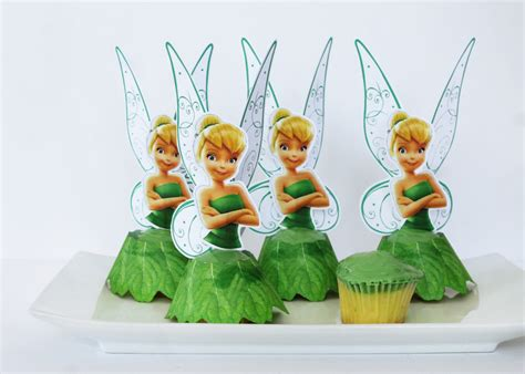 tinker bell cupcakes   printables growing
