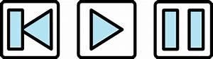 Rewind Play Pause Audio Buttons Clip Art at Clker