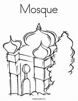 Mosque Coloring Masjid Pages Drawing Getdrawings Temple Getcolorings Printable sketch template