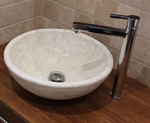 meuble bambou density et vasques pierre naturelle With salle de bain avec vasque en pierre