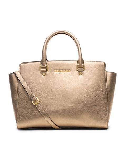 michael kors michael large selma topzip satchel in