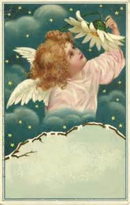 Victorian Christmas Angels Clip Art