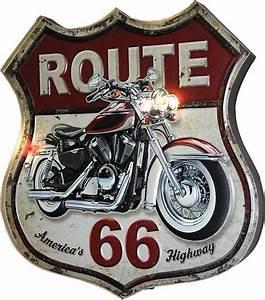 Route 66 En Moto : led metal bar sign route 66 signs metal led pinterest affiches r tro publicit s ~ Medecine-chirurgie-esthetiques.com Avis de Voitures
