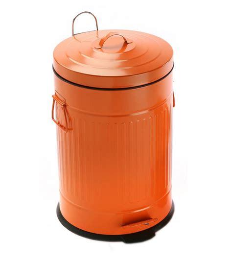 cuisine vintage poubelle de cuisine rétro en métal violet 30l wadiga com