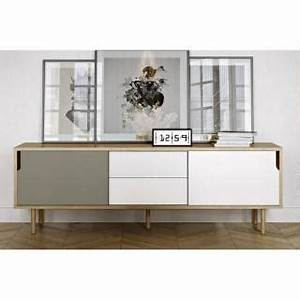 Meuble Rangement Scandinave : meubles tv meubles et rangements meuble tv dann ch ne avec 2 portes coulissantes et 2 tiroirs ~ Teatrodelosmanantiales.com Idées de Décoration
