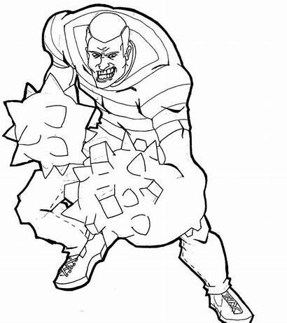 Sandman Coloring Homme Sable Laughing Marvel Deviantart
