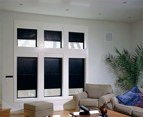 blackout curtains shades automated entertainment