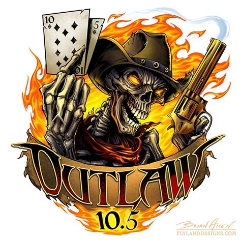 skull outlaw racing logo design flyland designs