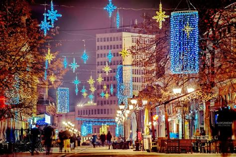under the christmas lights serbian cities the lights serbia