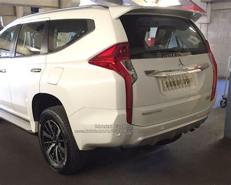 mitsubishi shogun 2017 2017 mitsubishi shogun sport spyshot indian autos blog