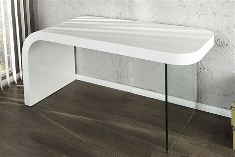 bureau blanc laqu bureau design blanc laque et verre timmen