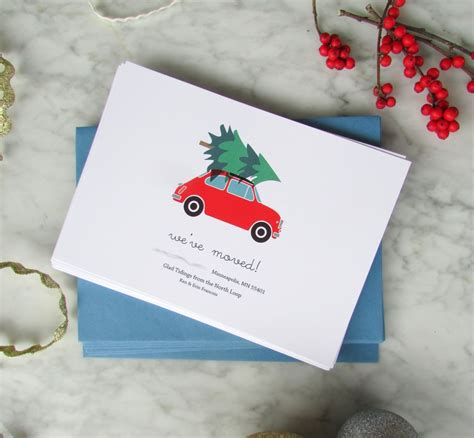 holiday moving announcement cards francois  moi
