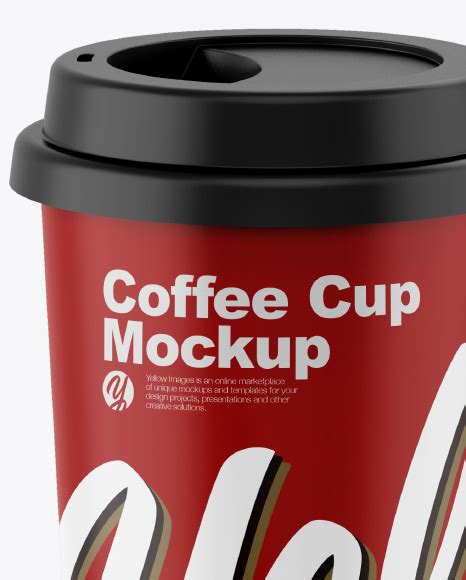 Sample design is not included in the download file. Matte Coffee Cup Mockup in Cup & Bowl Mockups on Yellow ...