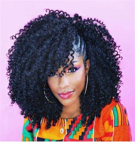 ideas  crochet braids hairstyles  natural