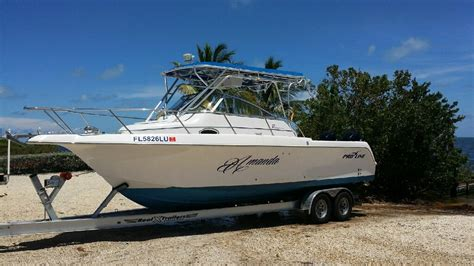 Troline Boat by Walk Around Cabin Cuddy Boats Boat Sales Miami Florida
