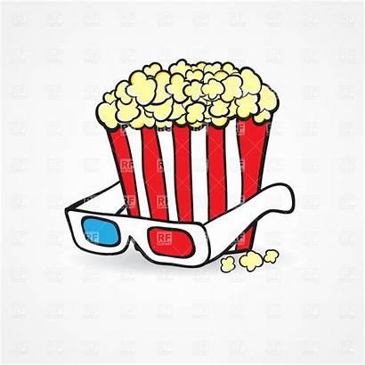 Popcorn Theater Clipart Clip Cinema Building Vector