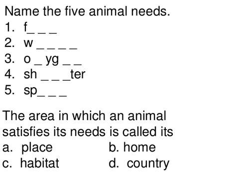 animal  teach st   grades