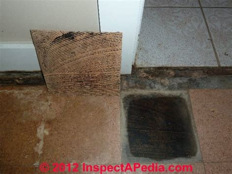 asbestos containing floor tile adhesive mastic or roofing sealant identification