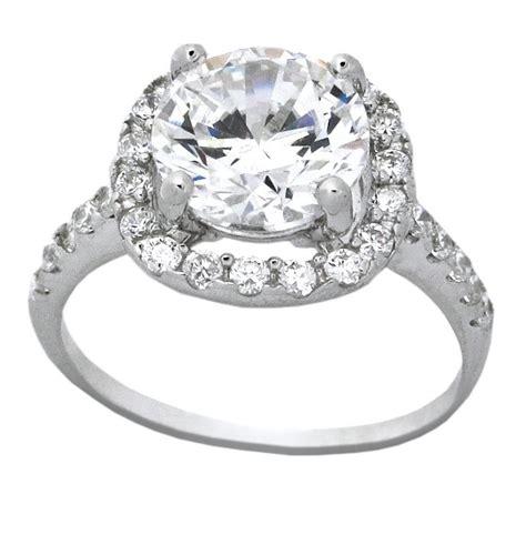 beautiful  carat cubic zirconium halo  engagement
