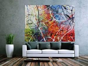 Große Bilder Auf Leinwand : abstrakte acrylbilder in xxl gro e bilder auf leinwand ~ Lateststills.com Haus und Dekorationen