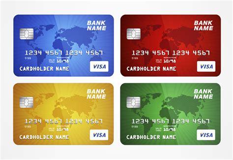 credit card template vectorize images vectorize