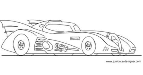 Kleurplaat Batmobiel by How To Draw The Batmobile Car Drawing For