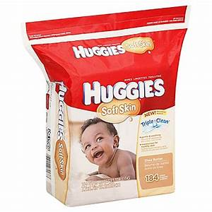 Huggies® 184-Count Soft Skin Baby Wipes Refill - buybuy BABY
