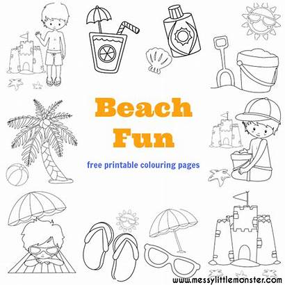 Beach Colouring Pages Summer Coloring Activities Activity