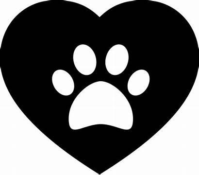 Svg Icon Heart Dog Pawprint Onlinewebfonts