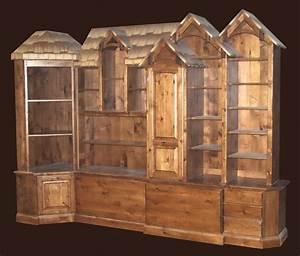Rustic, Bookcase, Dresser