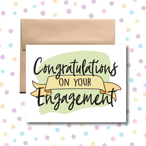 GC0166 Congrats on Your Engagement Card Little Dog Paper Co