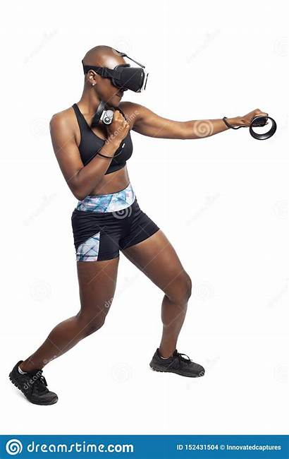 Boxing Vr Reality Virtual Headset Woman Controllers