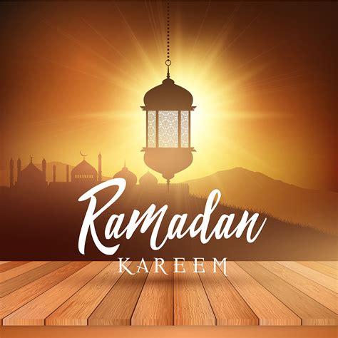 ramadan landscape background  wooden table