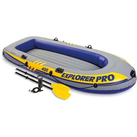 Inflatable Pool Boat With Oars by Intex Inflatable Explorer Pro 400 Four Person Boat With