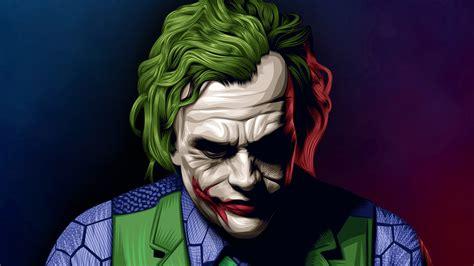 Joker Heath Ledger Illustration Superheroes Wallpapers