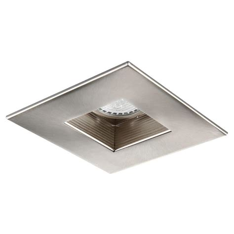 home depot recessed lighting trim elegant lighting 4 in brushed nickel recessed square